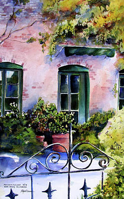 Maison Fleurie Art Print