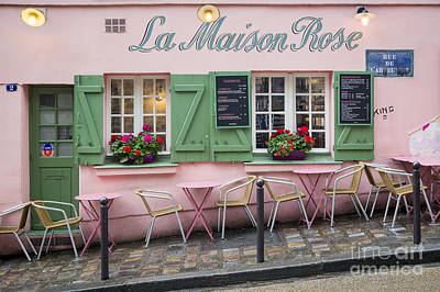 Photograph - Maison Rose - Montmartre Paris by Brian Jannsen