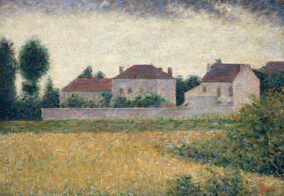 Neo-impressionism Painting - Maisons Blanches  by Georges Pierre Seurat