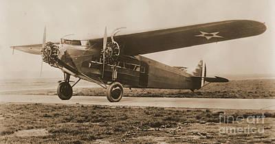 Maitlands Fokker Tri Motor Airplane Art Print