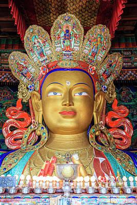 Photograph - Maitreya Buddha Statue by Alexey Stiop