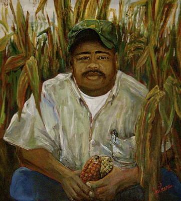 Maize Farmer Art Print by Linnie Aikens