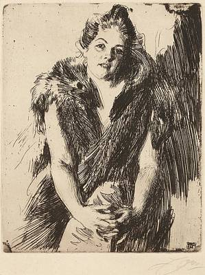 Drawing - Maja Von Heijne by Anders Zorn