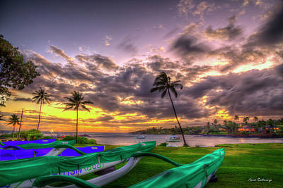 Photograph - Majestic Kukui Ula Small Boat Harbor Kauai Sunset Art by Reid Callaway