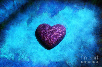 Abstract Hearts Photograph - Majestic At Heart by Krissy Katsimbras