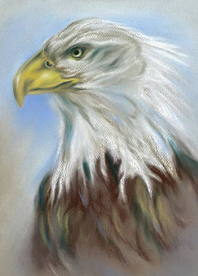 Pastel - Majestic Bald Eagle by MM Anderson