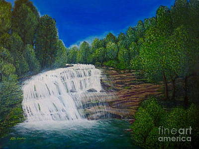 Painting - Majestic Bald River Falls Of Appalachia II by Kimberlee Baxter