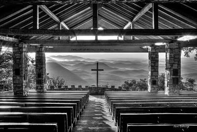 Photograph - Majestic Beauty Pretty Place Chapel Bw Symmes Chapel Art by Reid Callaway