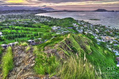 Photograph - Majestic Climb Kailua Lanikai Pillbox Hike Hawaii Collection Art  by Reid Callaway