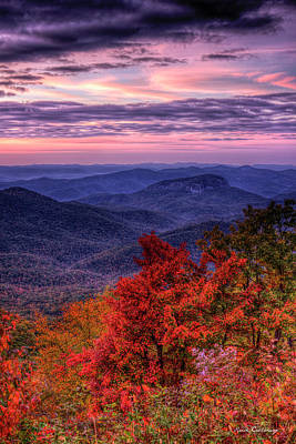Majestic Colors Looking Glass Rock Sunrise Art Art Print by Reid Callaway