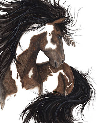 Native American Horse Painting - Majestic Dream Pinto Horse by AmyLyn Bihrle