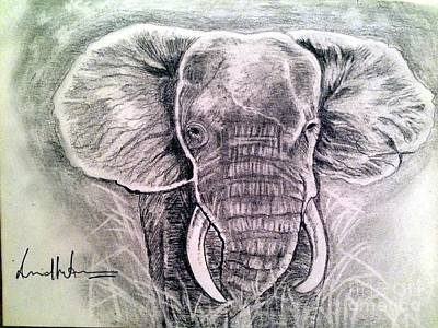 Painting - Majestic Elephant by Brindha Naveen