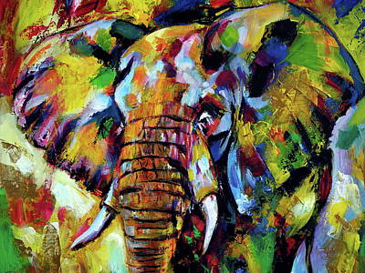 Painting - Majestic Elephant Cl by Kovacs Anna Brigitta