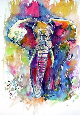 Painting - Majestic Elephant I by Kovacs Anna Brigitta