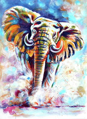 African sand paintings fine art america african sand painting majestic elephant ii by kovacs anna brigitta sciox Image collections