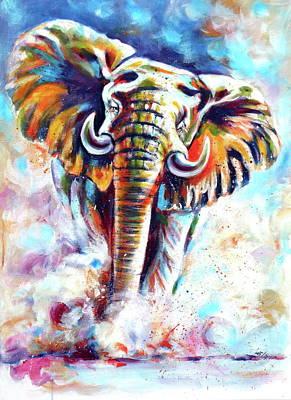 Painting - Majestic Elephant II by Kovacs Anna Brigitta
