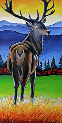 Wall Art - Painting - Majestic Elk by Alison Newth