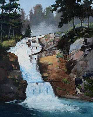 Painting - Majestic Falls by Brenda Thour
