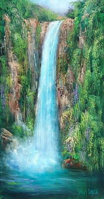 Majestic Falls Art Print by Sally Seago