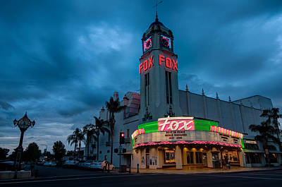 Photograph - Majestic Fox Theater Sunset Stormy Night by Connie Cooper-Edwards