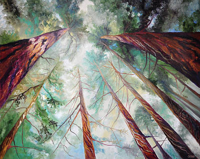 Giant Sequoia Painting - Majestic Giants by Cedar Lee