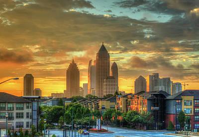 Photograph - Majestic Gold Midtown Atlantic-station Atlanta Sunrise Art by Reid Callaway