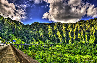 Photograph - Majestic Heights Tetsuo Harano Tunnels Hawaii Collection Art by Reid Callaway