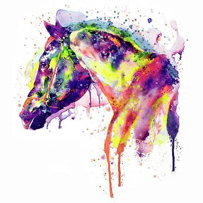 Painted Face Mixed Media - Majestic Horse by Marian Voicu