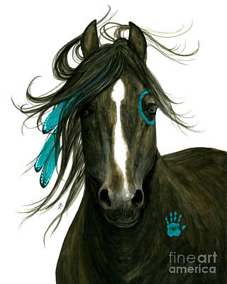 Morgan Horse Painting - Majestic Horse 163 by AmyLyn Bihrle