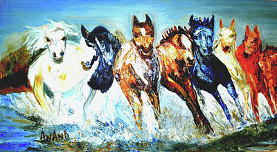 Painting - Majestic Horses by Anand Swaroop Manchiraju