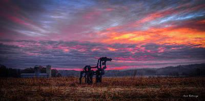 Majestic Iron Horse Sunrise Art Art Print by Reid Callaway