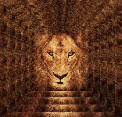 Majestic Lion Art Print by Anton Kalinichev