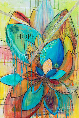 Painting - Spirit Lotus With Hope by TM Gand