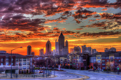 Photograph - Majestic Midtown Sunrise Atlantic Station Art by Reid Callaway