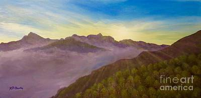 Painting - Majestic Morning Sunrise by Kimberlee Baxter