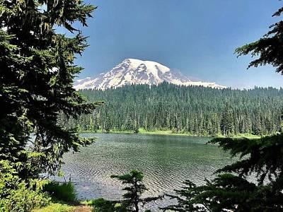 Photograph - Majestic Mount Rainier by Bruce Bley