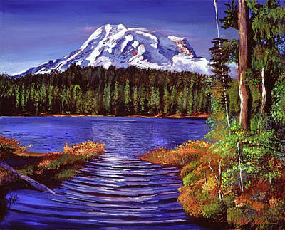 Painting - Majestic Mount Rainier by David Lloyd Glover