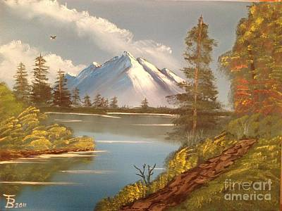 Majestic Mountain Lake Art Print