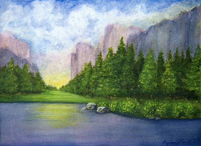 Painting - Majestic Mountains by Barbara J Blaisdell