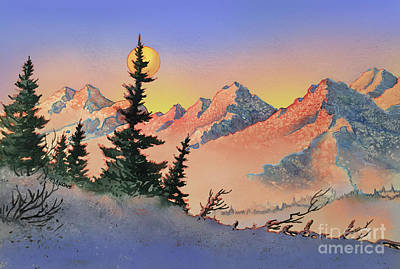 Painting - Majestic Mountains by Teresa Ascone