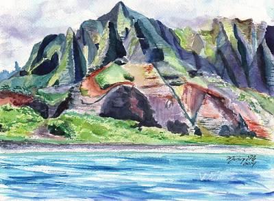 Majestic Na Pali Coast Art Print