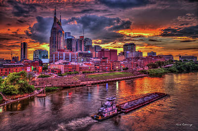 Photograph - Majestic Nashville Cityscape Music City Art by Reid Callaway