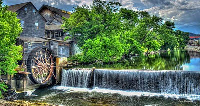 Majestic Old Mill Pigeon Forge Mill Great Smoky Mountains Art Art Print by Reid Callaway