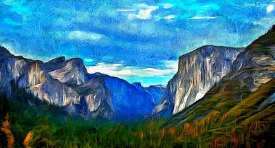Altitude Painting - Majestic - Pa by Leonardo Digenio
