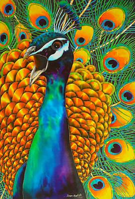 Majestic Peacock Art Print by Daniel Jean-Baptiste