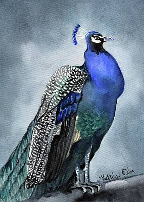 Painting - Majestic Peacock by Dora Hathazi Mendes