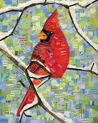 Mixed Media - Majestic Red Cardinal  by Shawna Rowe