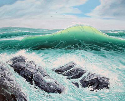 Majestic Sea Art Print by Lorraine Foster
