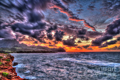 Photograph - Majestic Sunrise Kauai Hawaii Art by Reid Callaway
