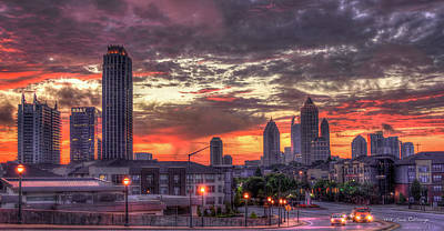 High School Of Art And Design Photograph - Majestic Sunrise Midtown Atlanta by Reid Callaway